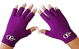 UV cimdi manikīram